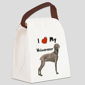 I Love My Weimaraner Canvas Lunch Bag