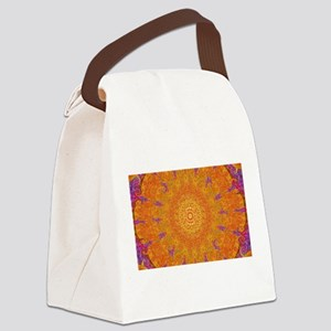 Orange Sunburst Canvas Lunch Bag