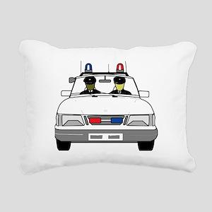 Police Car Rectangular Canvas Pillow