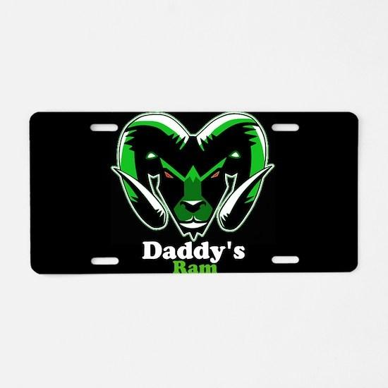 Daddy's Ram Aluminum License Plate