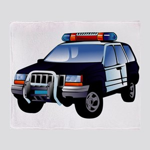 Police Car Throw Blanket
