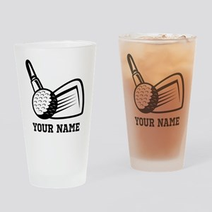 Personalized Name Golf Design Drinking Glass