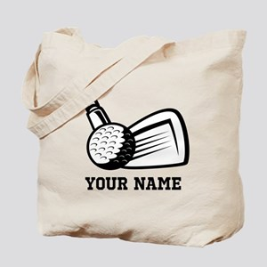 Personalized Name Golf Design Tote Bag