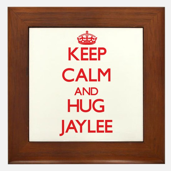 Keep Calm and Hug Jaylee Framed Tile