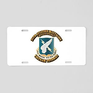 DUI - 25th Aviation Battalion Aluminum License Pla