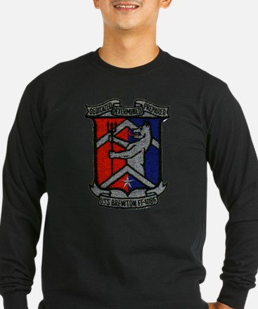 uss brewton ff patch transparent Long Sleeve T-Shi
