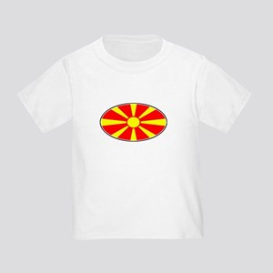 Mecedinian Oval Flag Toddler T-Shirt