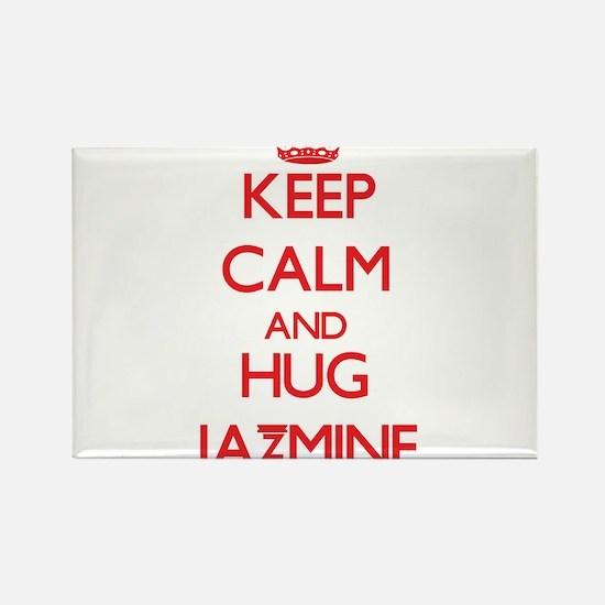 Keep Calm and Hug Jazmine Magnets