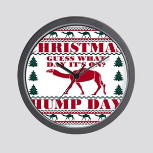 Red Green Hump Day Guess What Christmas Wall Clock