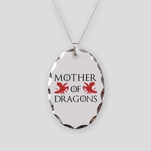 Mother Of Dragons Necklace Oval Charm