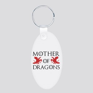 Mother Of Dragons Aluminum Oval Keychain