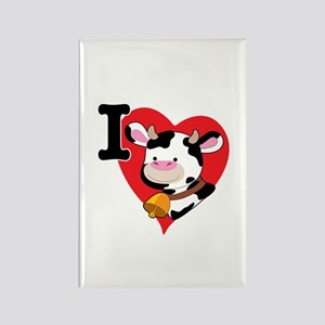 I Love Cows Rectangle Magnet