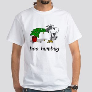 baa humbug White T-Shirt