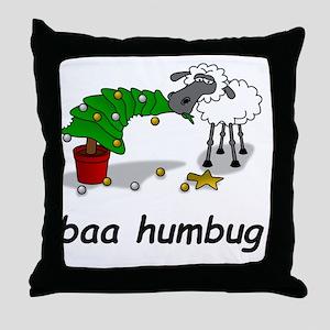 baa humbug Throw Pillow