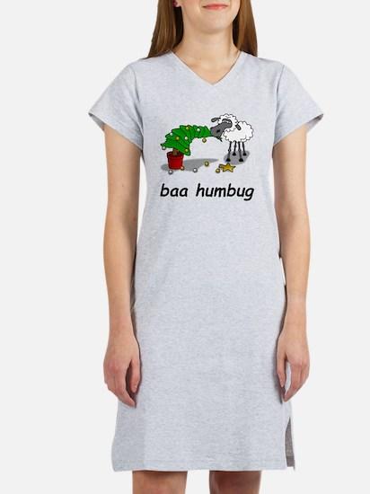 baa humbug Women's Nightshirt