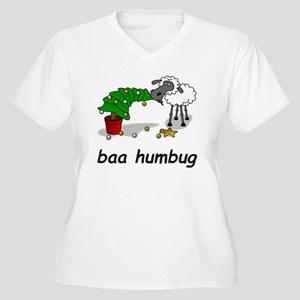 baa humbug Women's Plus Size V-Neck T-Shirt