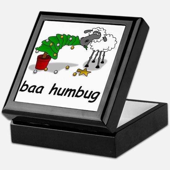baa humbug Keepsake Box