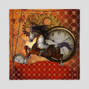 Steampunk, wonderful wild red steampunk horse Quee