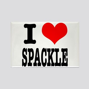I Heart (Love) Spackle Rectangle Magnet