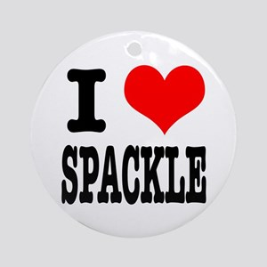 I Heart (Love) Spackle Ornament (Round)