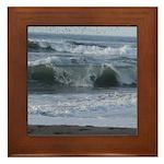 Breaking Waves Framed Tile