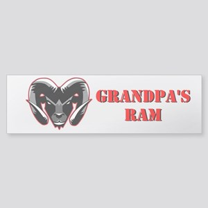 Grandpa's Ram Window Sticker (Bumper)