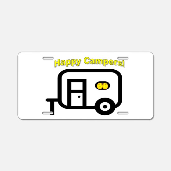 Happy Campers! Aluminum License Plate