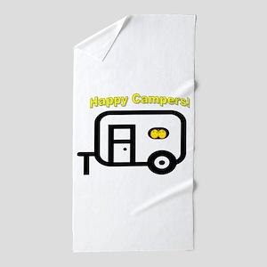 Happy Campers! Beach Towel