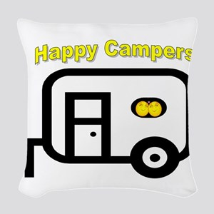 Happy Campers! Woven Throw Pillow