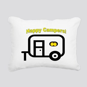 Happy Campers! Rectangular Canvas Pillow
