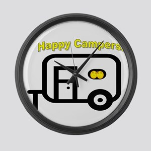 Happy Campers! Large Wall Clock