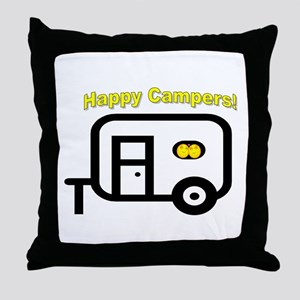 Happy Campers! Throw Pillow
