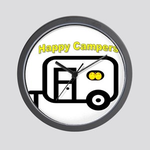 Happy Campers! Wall Clock