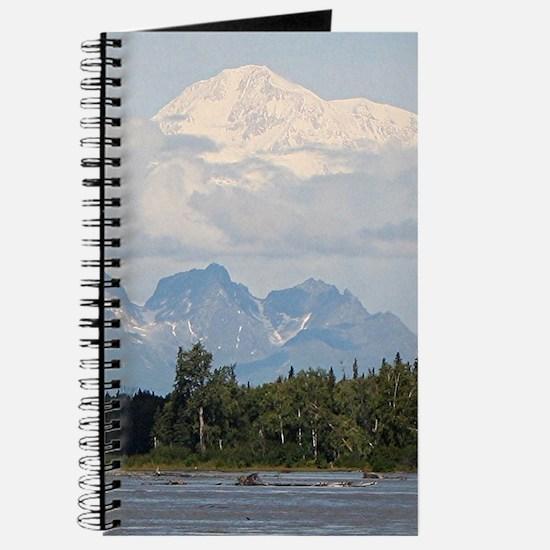 Denali, forest, river, mountains, Alaska, Journal