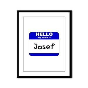 hello my name is josef  Framed Panel Print