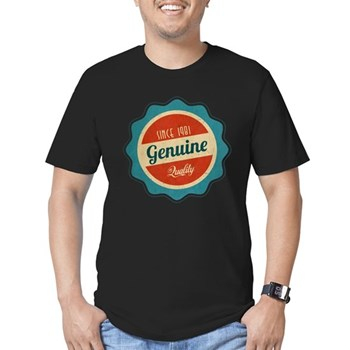 Retro Genuine Quality Since 1981 Men's Fitted T-Sh