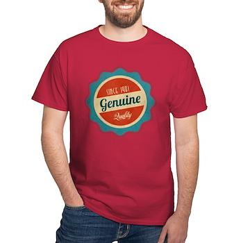 Retro Genuine Quality Since 1981 Dark T-Shirt