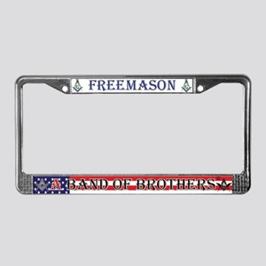 Band Of Brother Masons License Plate Frame