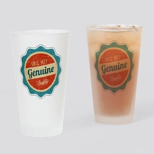 Retro Genuine Quality Since 1977 Drinking Glass
