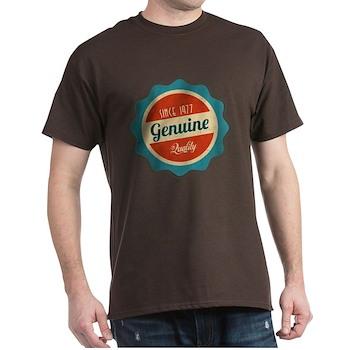 Retro Genuine Quality Since 1977 Dark T-Shirt