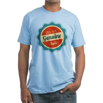 Retro Genuine Quality Since 1976 Fitted T-Shirt
