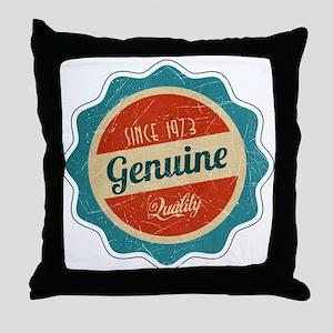 Retro Genuine Quality Since 1973 Throw Pillow