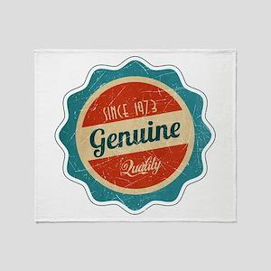 Retro Genuine Quality Since 1973 Throw Blanket