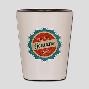 Retro Genuine Quality Since 1973 Shot Glass
