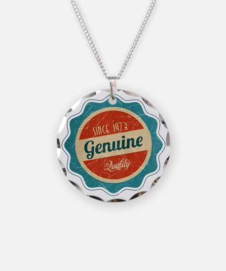 Retro Genuine Quality Since 1973 Necklace Circle C