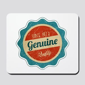 Retro Genuine Quality Since 1973 Mousepad