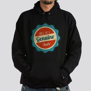 Retro Genuine Quality Since 1973 Hoodie (dark)