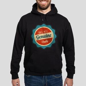 Retro Genuine Quality Since 1973 Hoodie (dark)