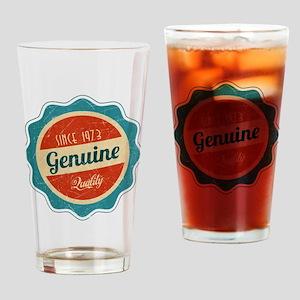 Retro Genuine Quality Since 1973 Drinking Glass