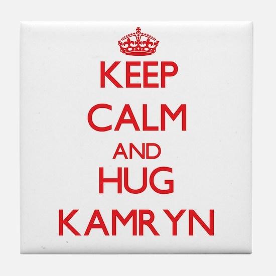 Keep Calm and Hug Kamryn Tile Coaster